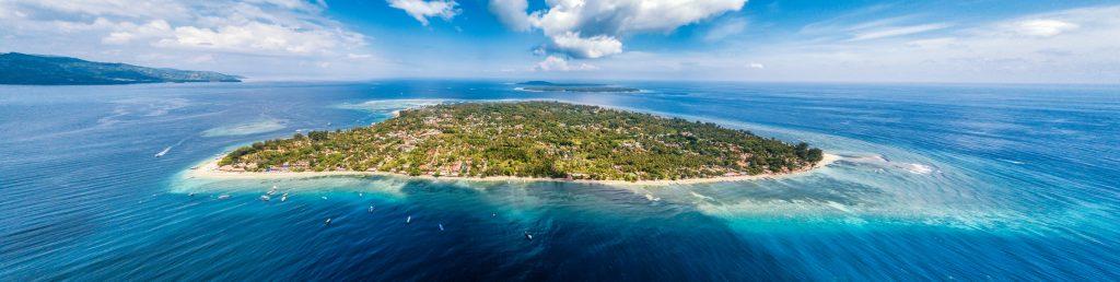 Gili island drone