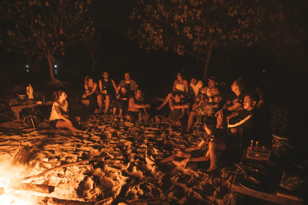 camping on the secret gilis