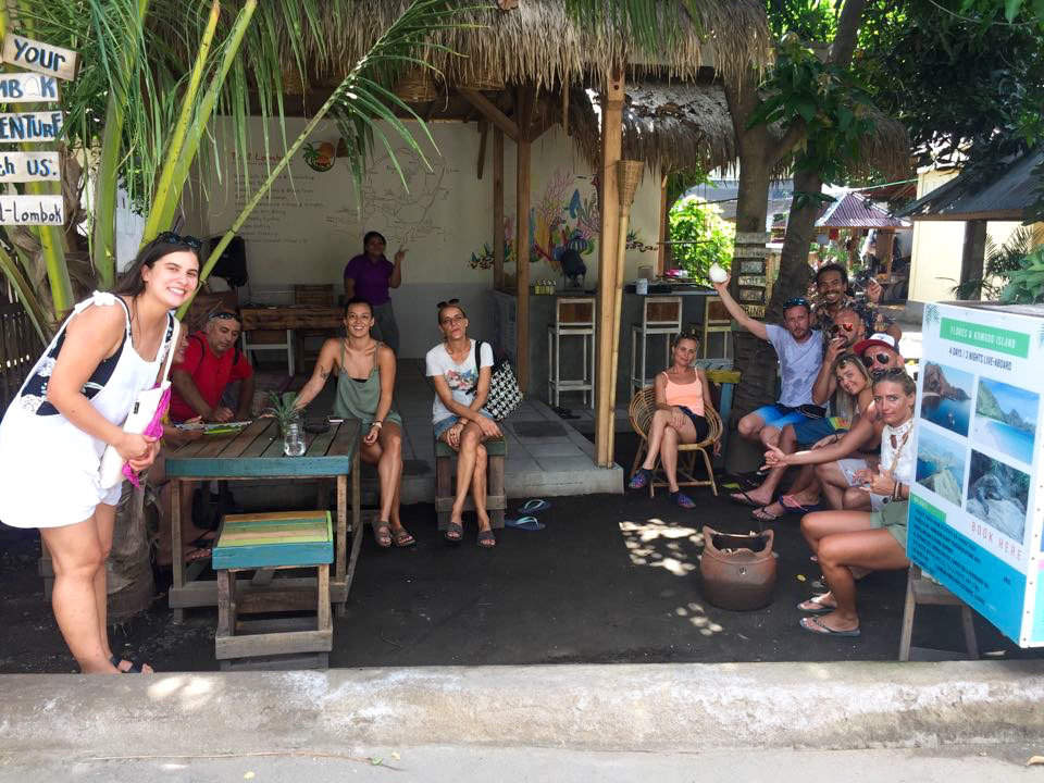 coconut oil class on Gili Air