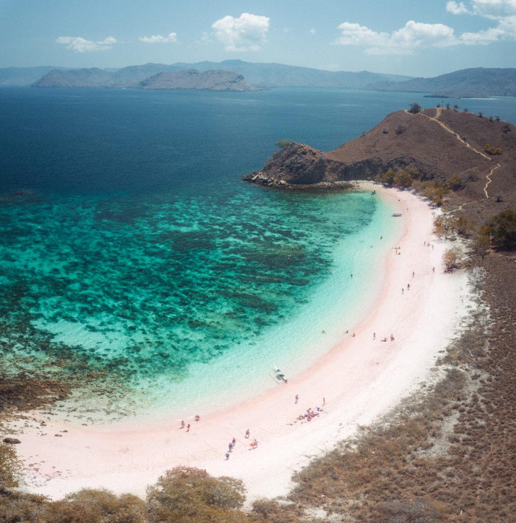 Komodo National Park's pink beach