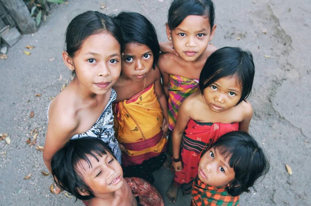 Lombok village, traditional, lombok children, English club