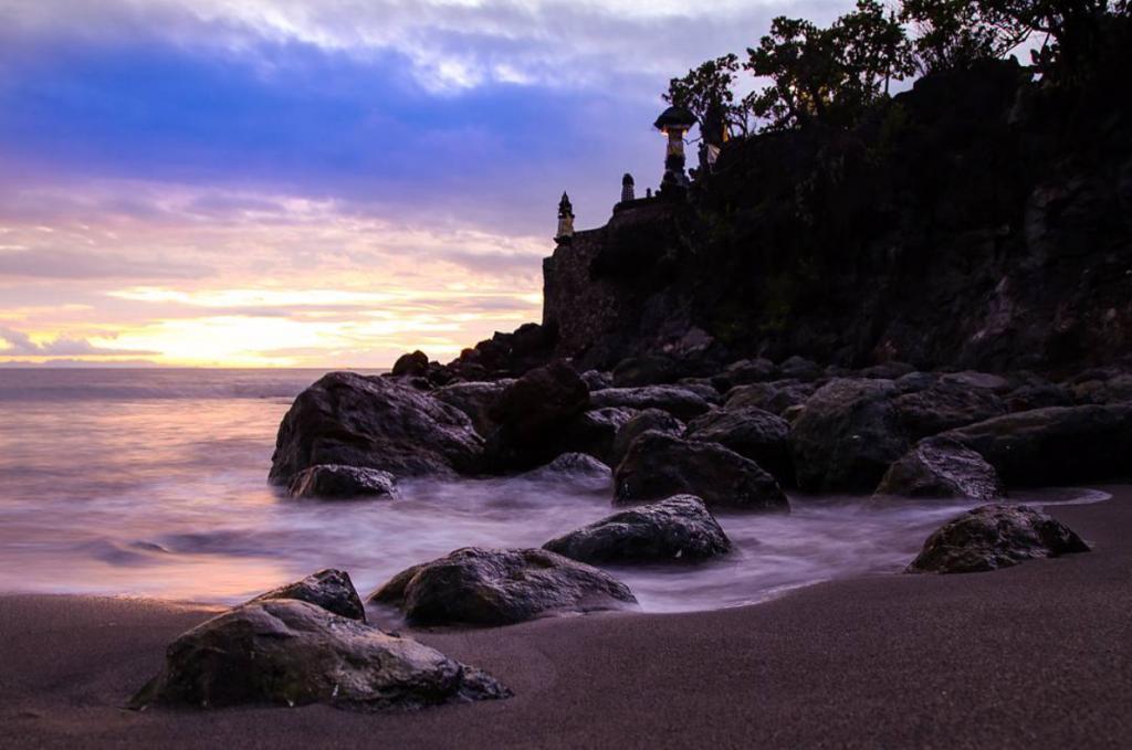 sunset, Batu Bolong temple, hindu temple, sengiggi