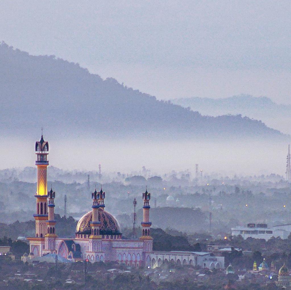 Mosque, view, valley, Semblaun