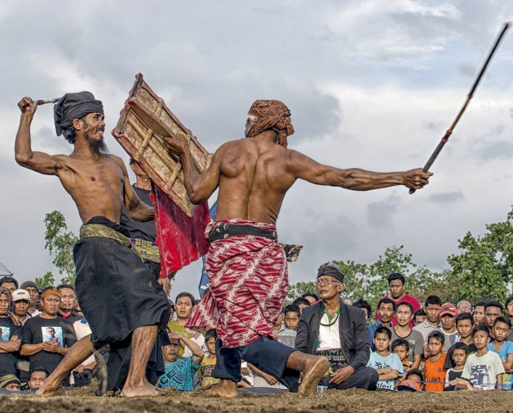stick fighting lombok